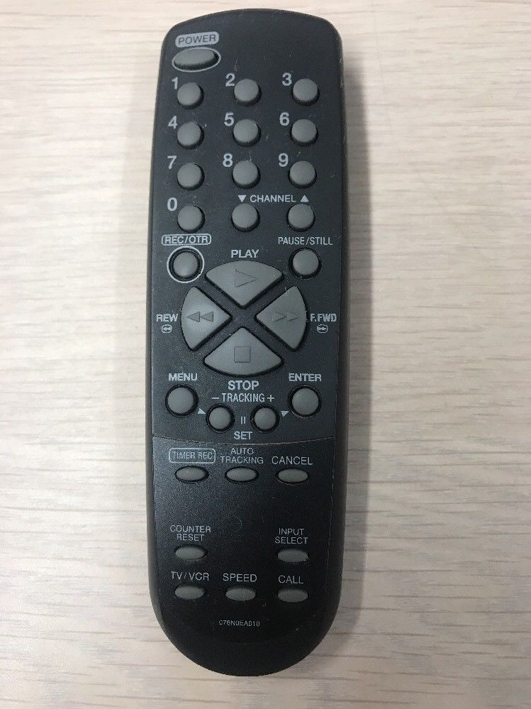 076N0EA010 VCR Remote Control Tested And Cleaned                     F5