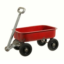 """Raz 14.5"""" Country Cabin Rustic Red Iron Wagon Decoration - $68.05"""