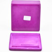 "Vaneal Group Hand Carved Kisii Soapstone Kitty Cat Love Fuchsia 3"" Trinket Box image 5"