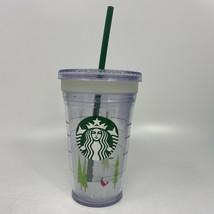 Starbucks Cold Cup Tumbler 16 oz Christmas Grande Coffee Straw Holiday - $9.27