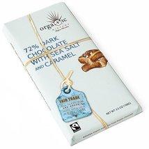 Organic Dark Belgian Chocolate Bar with Caramel and Sea Salt 72% (3.5 ounce) - $5.99