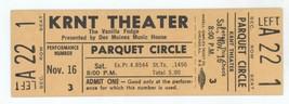 Rare VANILLA FUDGE 11/16/68 Des Moines IA KRNT Theater Unused Ticket! - $29.69