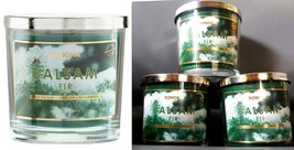 $60 Balsam Fir Sonoma Jar Candle w/Lid 3-Wick Pine Tree Scent-LOT of Thr... - $26.70