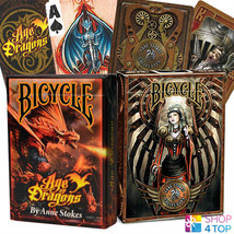 2 DECKS BICYCLE 1 ANNE STOKES AGE OF DRAGONS AND 1 ANNE STOKES STEAMPUNK... - $11.48
