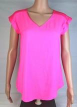 Express Damen Top Neon Pink Kurzärmlig V-Ausschnitt GRÖSSE XS / Tp - $10.45