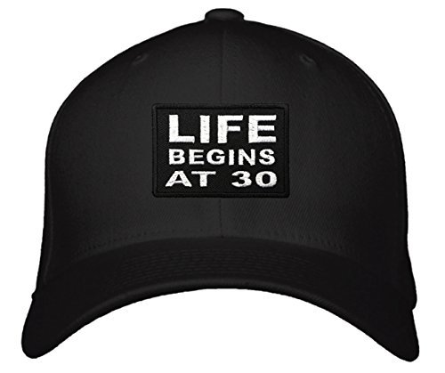 Life Begins At 30 Hat - Great Gift for Friend Relative (Black)