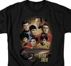 Star Trek Retro 60's Sci-Fi Original Crew Kirk & Spock graphic t-shirt CBS719 image 2