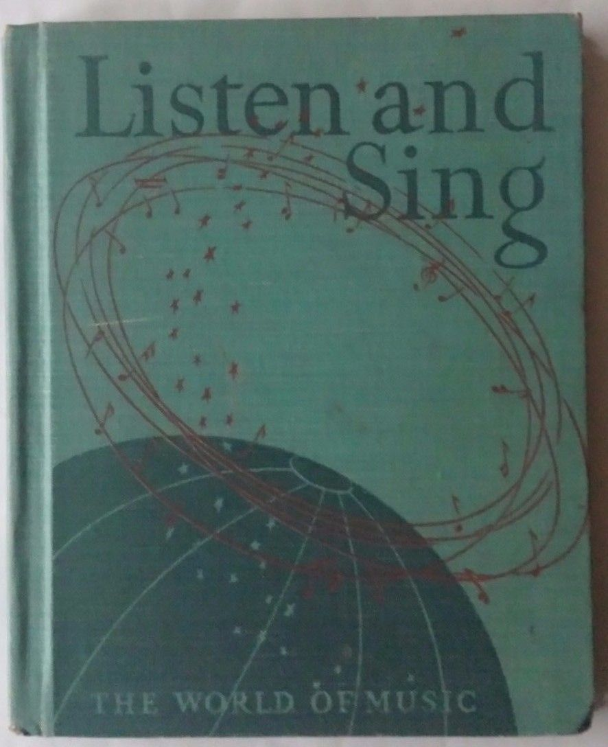 VTG Listen and Sing The World of Music Song Book Elementary Students 1943