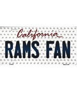Rams California State Background Metal License Plate Tag (Rams Fan) - $11.95