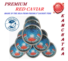 PREMIUM RED CAVIAR made in the sea from freshly caught fish 140g/4.94oz - $19.19