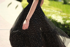 Black Tulle Party Skirt Women Tiered Layered Tulle Skirt Tulle Party Skirt Plus image 9