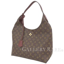 LOUIS VUITTON Flower Hobo Monogram Bordeaux Shoulder Bag Italy Authentic... - $1,665.07