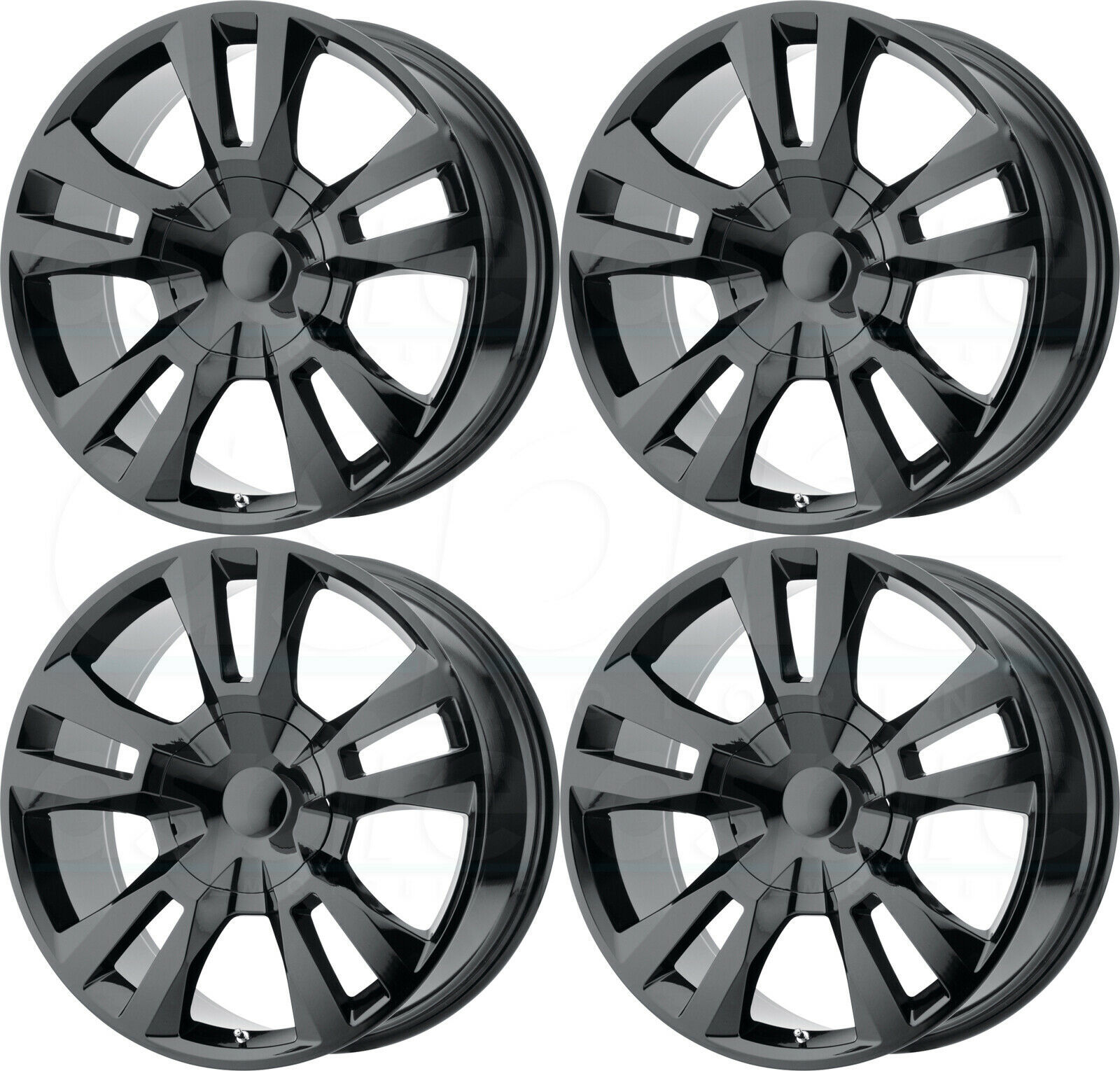Primary image for 24x10 OE Creations PR188 6x5.5/6x139.7 31 Gloss Black Wheels Rims Set(4)