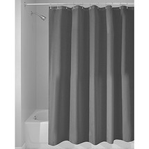 InterDesign Mildew-Free Water-Repellent Fabric Shower Curtain, Long, (Long) - $21.97