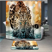 Fabric Animals leopard Shower Curtain Home Bathroom Curtains 3d elephant... - $37.81
