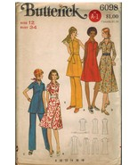 6098 UNCUT Butterick Sewing Pattern Misses One Piece Dress Tunic Pants 1... - $6.90