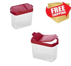Silicone Airtight Food Storage Container Kitchen Mini Spice Snacks Organ... - $8.59