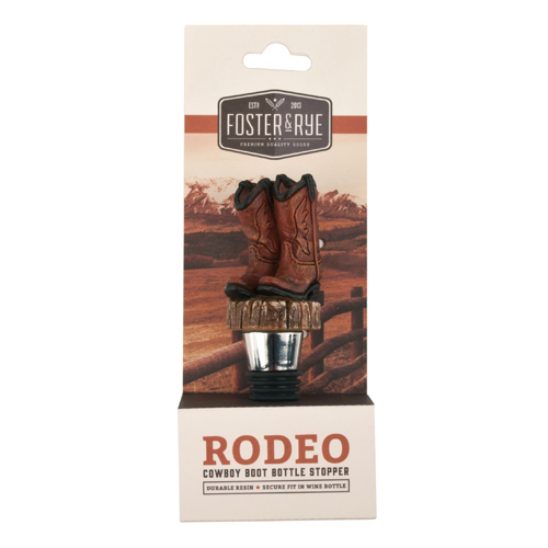 bottle stopper, Cowboy Boot decorative novelty reusable funny bottle stopper