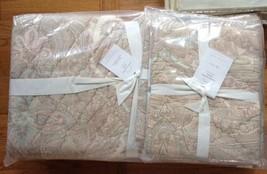 Pottery Barn Audrey Quilt Set Pink Mauve Queen 2 Euro Shams Paisley - $249.00