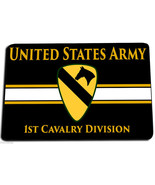 1ST CALVARY DIVISION UNITED STATES ARMY DOOR MAT RUG CARPET MADE IN USA - $31.58