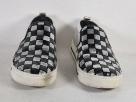 Marc Jacobs Womens Mercer Black Silver Checkerboard Sequins Sneaker 36 - $99.00