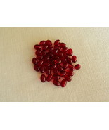"""1 Package of 80 Craft Sewing Jewelry 1/4"""" Oval Dark Red Beads -Free Ship... - $3.75"""