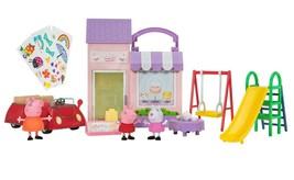 Peppa Pig Exclusive Fun Day Playset (Bakery, Red Car & Playground) NIB/Sealed - $39.99