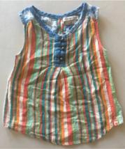 Lucky Brand Girls Stripe Sleeveless top Size 5 - $9.90