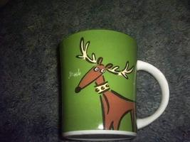 Jingle Reindeer Ceramic Mug - $9.65