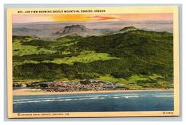 VINTAGE Curteich Linen Postcard - Air View Saddle Mountain Oregon Unused - $8.88