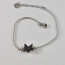 Silber Armband 925 Jack&co mit Schmetterling Stilisiert Zirkonia Kubische - $74.41