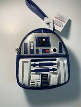 New 2020 Disney Parks Loungefly Star Wars R2-D2 Mini Backpack Wristlet B... - $58.88
