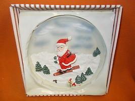 Novelty Inc Resin Santa On Skis Hanging Christmas Plate #61222A UPC:0487... - $9.90