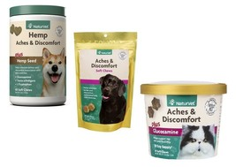 Dog & Cat Natural Health Supplement Aches Discomfort Reliever Tasty Soft... - $23.65+