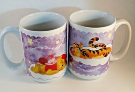 DISNEY WINNIE THE POOH TIGGER DREAMING OUR BOTHERS AWAY COFFEE MUG CUP. - £6.88 GBP