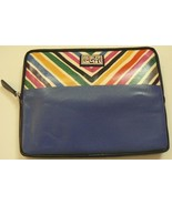 Brighton iPad Case T4257B Navy Multi Color $95 Retail Padded Vinyl Leath... - $33.00