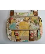 Relic Tropical Flowers Palm Trees Fabric Crossbody Shoulder Purse Handbag - $14.99