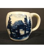 P R (Paul) Storie Pottery Marshall TX Mug Cobalt Blue   - $8.00