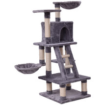 "46"" Condo Scratching Posts Ladder Cat Play Tree-Gray - £57.45 GBP"