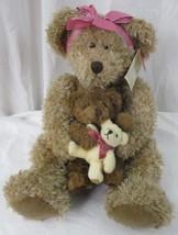 "Russ Berrie Marmie Trio of Teddy Bears Mama Baby Toy Shaggy Plush Stuffed 15"" - $29.69"