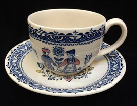 Cup & Saucer Johnson Bros Staffordshire Old Granite Hearts & Flowers Vin... - $9.89