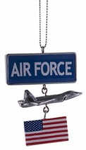 Gnz Support Our Troops Military Ornament w/USA Flag- Airforce - $10.52