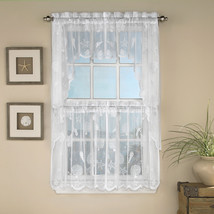 Reef Marine White Knit Lace Kitchen Curtains Choice of Tier, Valance or ... - $9.29+