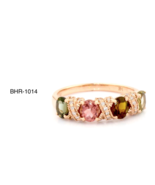 Multicolor Tourmaline Ring in 14 K Rose Gold RRP $1,920 - $568.00