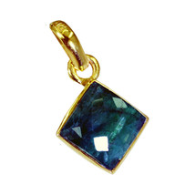 appealing Indian Emerald Gold Plated Green Pendant Natural general US gift - $9.89