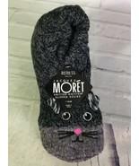Jacques Moret Womens Kritter Knitter Socks Black Gray Cat Fits Shoe Size... - $23.71