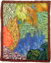 An item in the Art category: Fairy in the Fen: Quilted Art Wall Hanging