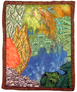 Fairy in the Fen: Quilted Art Wall Hanging - $295.00
