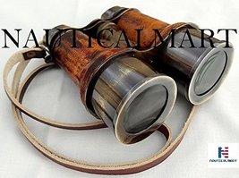 NauticalMart Antique Brass Binocular~Nautical Brass Telescope~Pirate Spyglass Le - $57.82