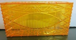 Vintage Acrylic Lucite yellow / amber floral  tissue Holder Mid Century - $57.00